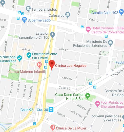 Clínica Los Nogales mapa